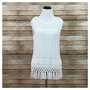 NWT Lilly Pulitzer Limon Sweater Tank - White - S